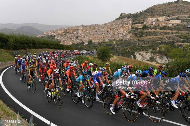 Diego Ulissi of Italy and UAE Team Emirates Purple Points Jersey / Peloton / Leonforte Village / Erean Mountains / Landscape / during the 103rd Giro...