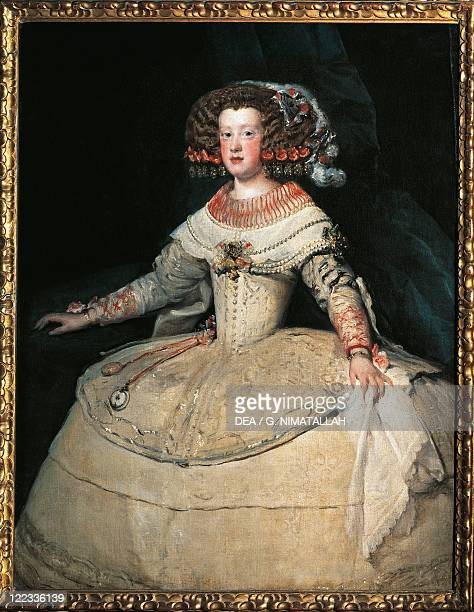 Diego Velazquez Portrait of Infanta Maria Theresa of Spain Queen of France wife of Louis XIV 1653