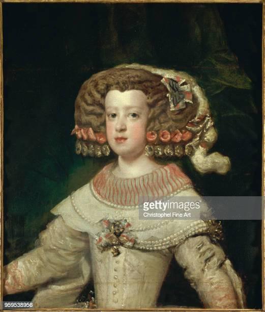 Diego Velazquez Portrait of Maria Theresa of Spain Future Queen of France Oil on canvas71 x 060 m Paris Louvre Museum