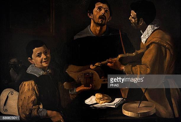 Diego Velazquez Spanish Baroque painter The musicians c16171618 Gemaldegalerie Berlin Germany