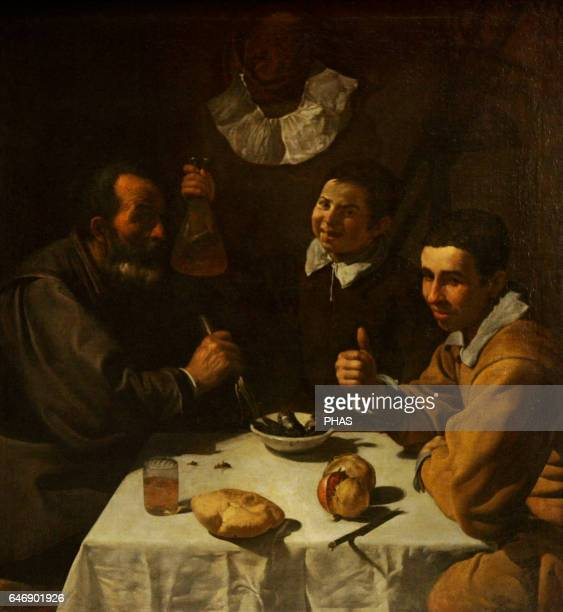 Diego Velazquez Spanish painter Baroque Period Spanish Golden Age The Lunch 1617 The State Hermitage Museum St Petersburg Russia