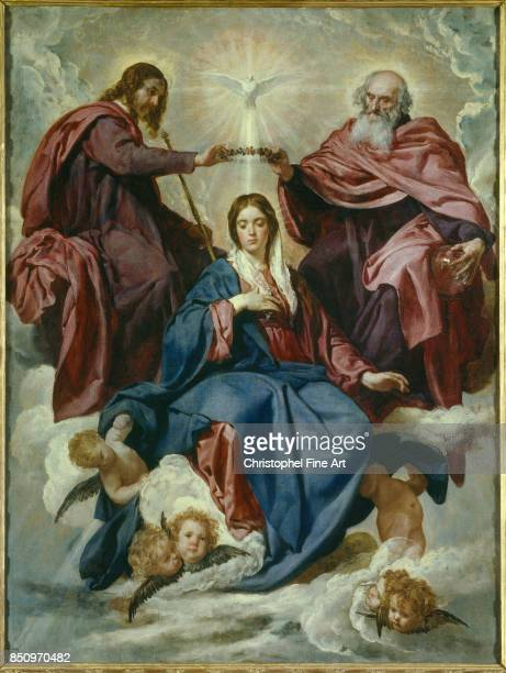 Diego Velazquez The Coronation of the Virgin 16351636 Oil on canvas 178 x 134 m Madrid museo del Prado