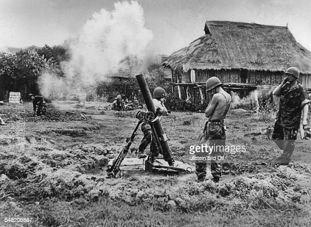 Dien Bien Phu a French grenade launcher position March 1954