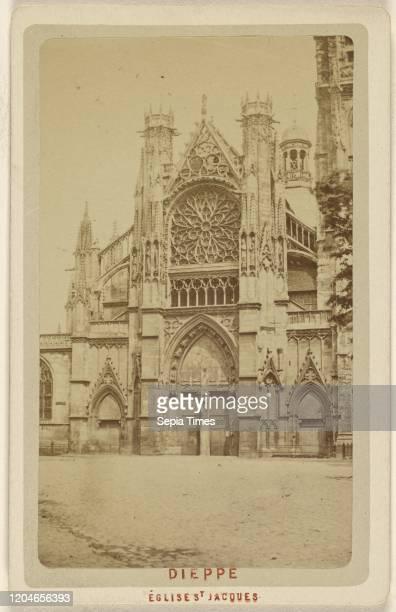 Dieppe. Eglise St. Jacques. Attributed to Le Comte , 1865-1875, Albumen silver print.