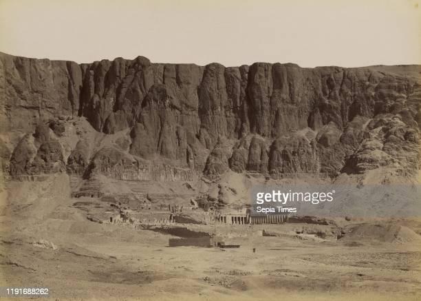 Dier el Bahri, General View of the Temple of Hatshepsut / Der el Bahari, Vue Generale du Temple d'Hotoussou, Antonio Beato , 1880 - 1889, Albumen...