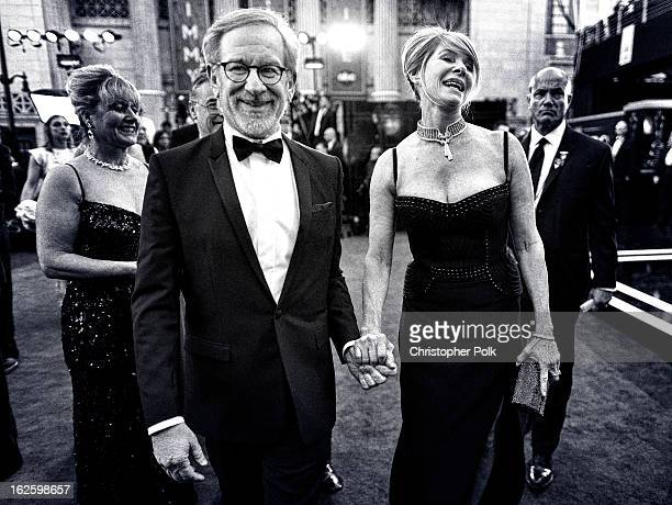 Dierector Steven Spielberg and actress Kate Capshaw arrive at Hollywood & Highland Center on February 24, 2013 in Hollywood, California.