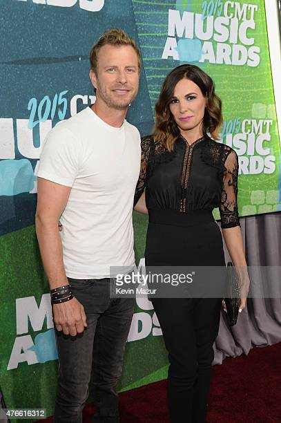 Dierks Bentley and Cassidy Black attend the 2015 CMT Music awards at the Bridgestone Arena on June 10 2015 in Nashville Tennessee