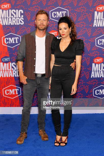 Dierks Bentley and Cassidy Black attend the 2019 CMT Music Award at Bridgestone Arena on June 05 2019 in Nashville Tennessee