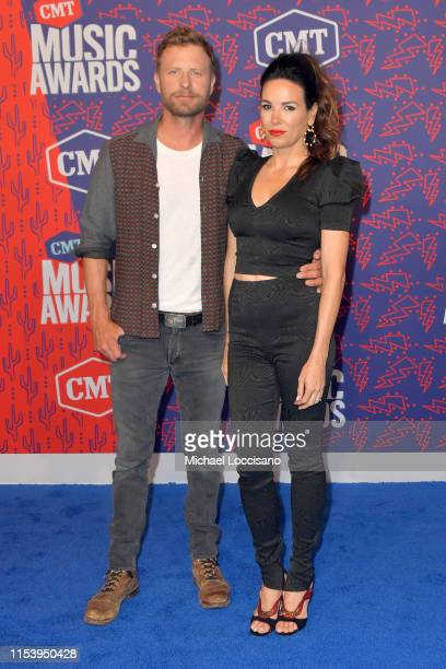 Dierks Bentley and Cassidy Black attend the 2019 CMT Music Awards at Bridgestone Arena on June 05 2019 in Nashville Tennessee