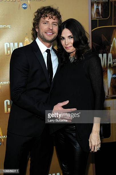 Dierks Bentley and Cassidy Black attend the 44th Annual CMA Awards at the Bridgestone Arena on November 10 2010 in Nashville Tennessee