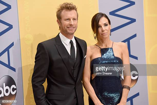 Dierks Bentley and Cassidy Black attend the 50th annual CMA Awards at the Bridgestone Arena on November 2 2016 in Nashville Tennessee
