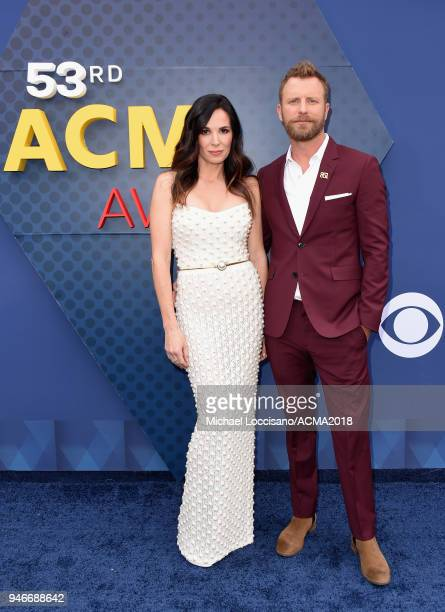 Dierks Bentley and Cassidy Black attend the 53rd Academy of Country Music Awards at MGM Grand Garden Arena on April 15 2018 in Las Vegas Nevada