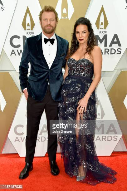 Dierks Bentley and Cassidy Black attend the 53rd annual CMA Awards at the Music City Center on November 13, 2019 in Nashville, Tennessee.