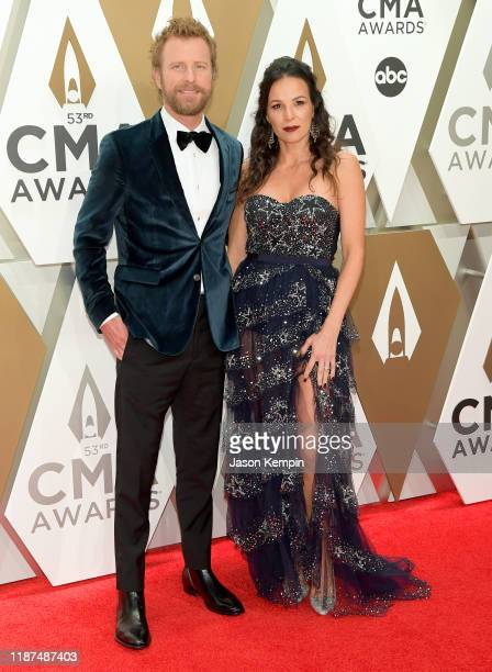Dierks Bentley and Cassidy Black attend the 53rd annual CMA Awards at the Music City Center on November 13 2019 in Nashville Tennessee