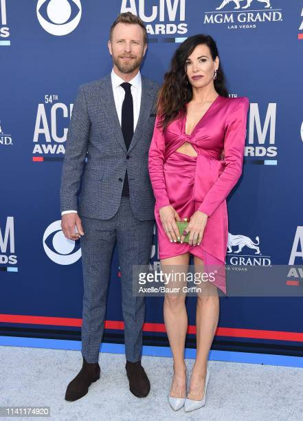 Dierks Bentley and Cassidy Black attend the 54th Academy of Country Music Awards at MGM Grand Garden Arena on April 07 2019 in Las Vegas Nevada
