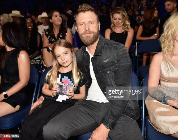 Dierks Bentley and daughter attend the 2018 CMT Music Awards at Bridgestone Arena on June 6 2018 in Nashville Tennessee