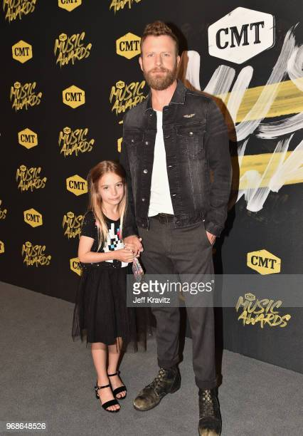 Dierks Bentley and daugter attend the 2018 CMT Music Awards at Nashville Municipal Auditorium on June 6 2018 in Nashville Tennessee
