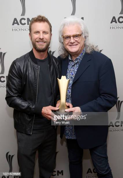 Dierks Bentley and Ricky Skaggs take photos during the 12th Annual ACM Honors at Ryman Auditorium on August 22 2018 in Nashville Tennessee