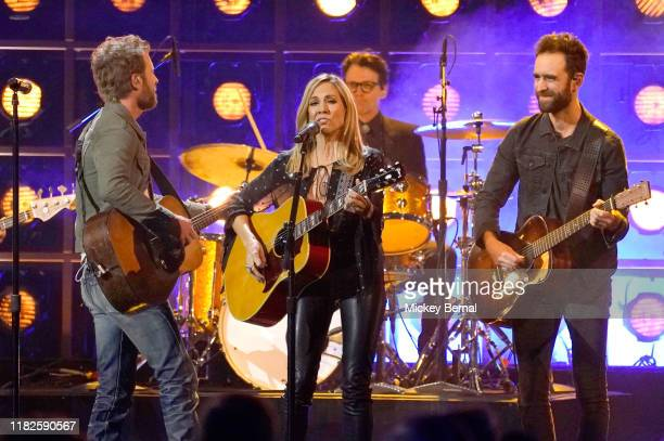 Dierks Bentley and Sheryl Crow perform onstage at the 53rd annual CMA Awards at the Bridgestone Arena on November 13 2019 in Nashville Tennessee