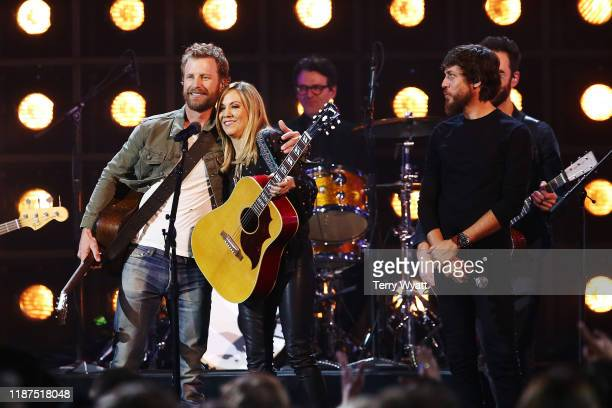 Dierks Bentley and Sheryl Crow perform onstage during the 53rd annual CMA Awards at the Bridgestone Arena on November 13 2019 in Nashville Tennessee
