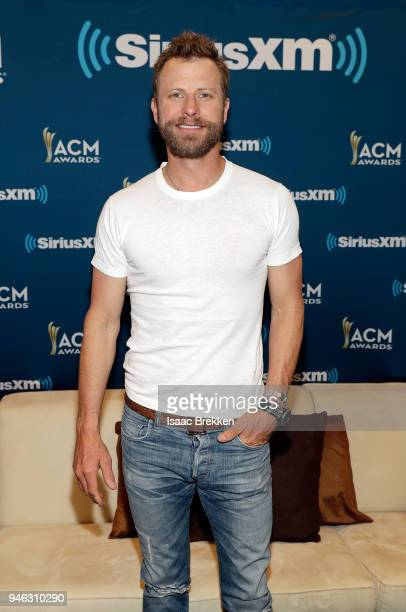 Dierks Bentley attends SiriusXM's The Highway channel broadcast backstage at the Academy of Country Music Awards on April 14 2018 in Las Vegas Nevada