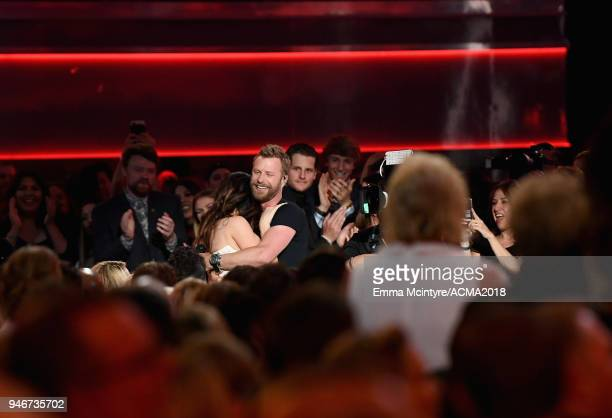 Dierks Bentley attends the 53rd Academy of Country Music Awards at MGM Grand Garden Arena on April 15 2018 in Las Vegas Nevada