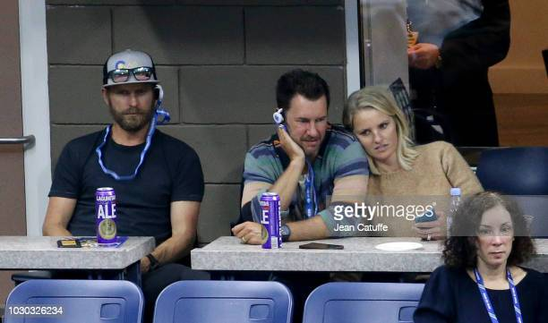 Dierks Bentley Blake Mycoskie attend the men's final on day 14 of the 2018 tennis US Open on Arthur Ashe stadium at the USTA Billie Jean King...