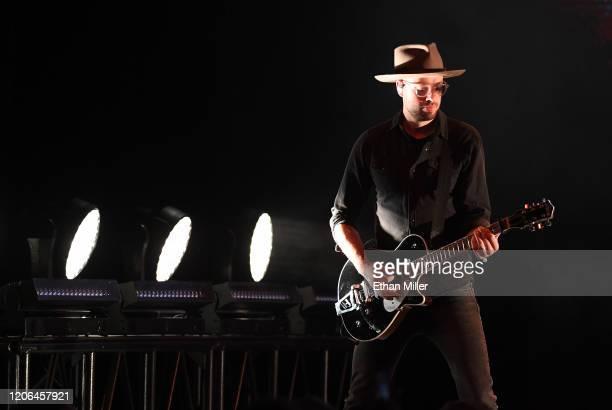 Dierks Bentley guitarist Ben Helson performs at The Chelsea at The Cosmopolitan of Las Vegas on February 14 2020 in Las Vegas Nevada
