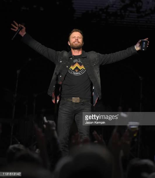 Dierks Bentley performs at Bridgestone Arena on February 22 2019 in Nashville Tennessee