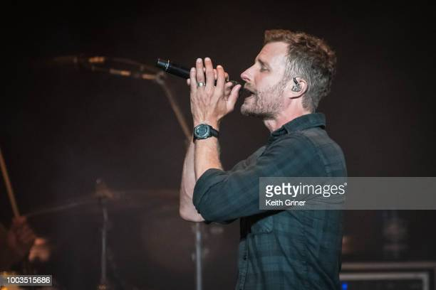 Dierks Bentley performs at Ruoff Home Mortgage Music Center on July 21 2018 in Noblesville Indiana