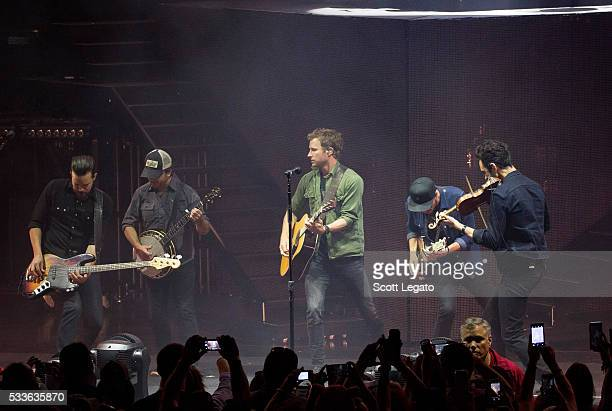 Dierks Bentley performs in support of his Somewhere on a Beach Tour at DTE Energy Music Theater on May 22 2016 in Clarkston Michigan