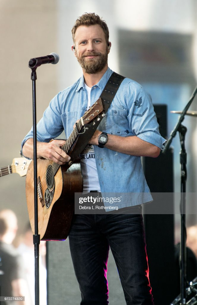 Dierks Bentley performs live on NBC's 'Today' at Rockefeller Plaza on June 12, 2018 in New York City.