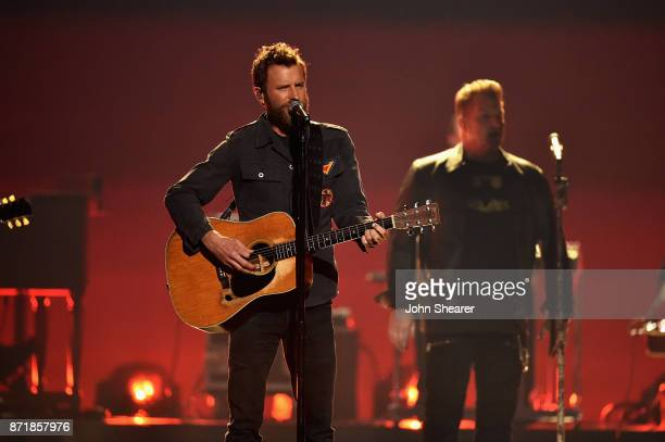 Dierks Bentley performs onstage at the 51st annual CMA Awards at the Bridgestone Arena on November 8 2017 in Nashville Tennessee