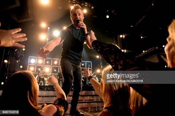 Dierks Bentley performs onstage at the 53rd Academy of Country Music Awards at MGM Grand Garden Arena on April 15 2018 in Las Vegas Nevada