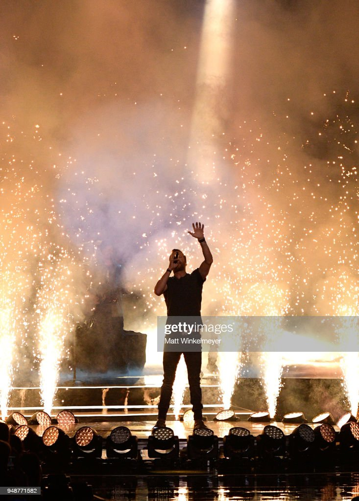 Dierks Bentley performs onstage at WE Day California at The Forum on April 19, 2018 in Inglewood, California.