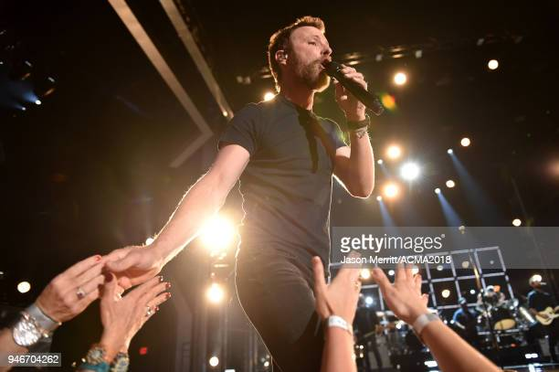 Dierks Bentley performs onstage during the 53rd Academy of Country Music Awards at MGM Grand Garden Arena on April 15 2018 in Las Vegas Nevada