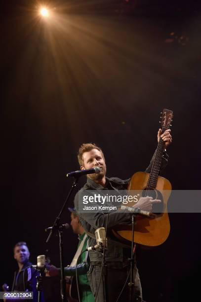 Dierks Bentley performs onstage during the Bobby Bones The Raging Idiots' Million Dollar Show for St Jude at the Ryman Auditorium on January 22 2018...