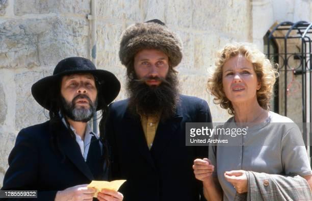 Diese Drombuschs, Fernsehserie, Deutschland 1983 - 1994, Dreharbeiten in Israel 1988, Darsteller: Witta Pohl mit Darstellern orthodoxer Juden.