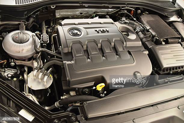 Diesel engine in a car