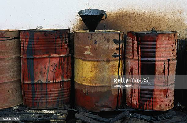 diesel fuel barrels - oil barrel stock pictures, royalty-free photos & images
