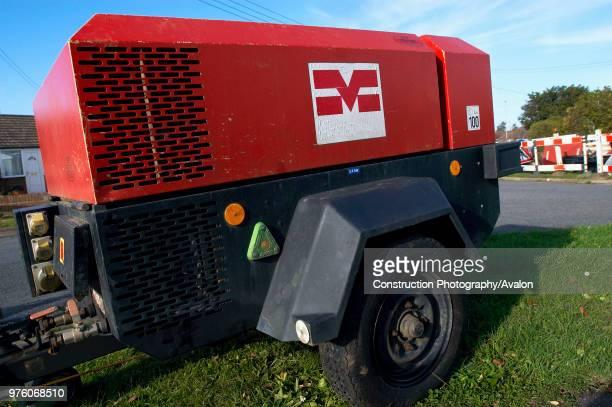 Diesel generator on site.