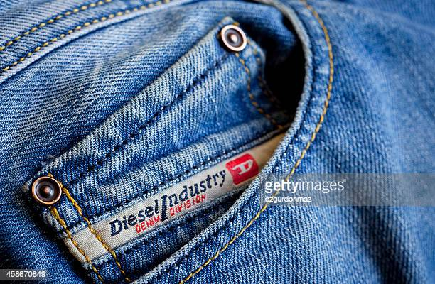 Diesel label on jeans