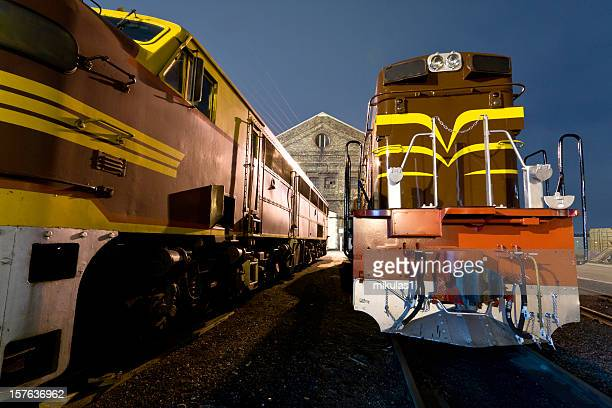 diesel locomotives - cowcatcher stock pictures, royalty-free photos & images