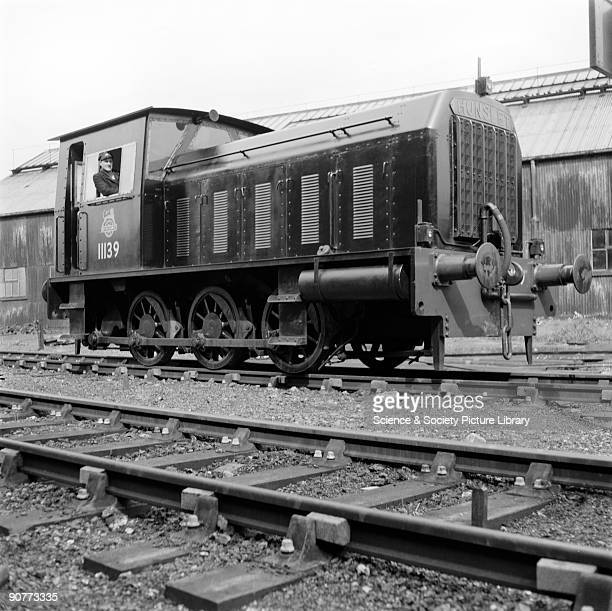 Diesel mechanical locomotive number 11139 built by the Hunslet Engine company in Leeds West Yorkshire 3 September 1956 At this time the railways were...