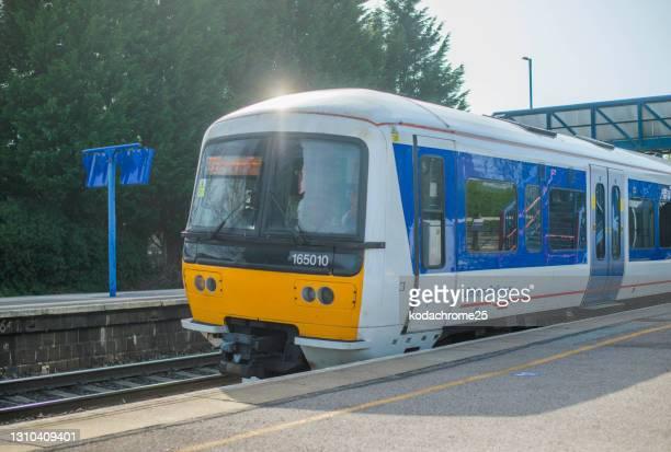 英国の田舎のディーゼル動力の鉄道駅。 - ブリティッシュレイル ストックフォトと画像