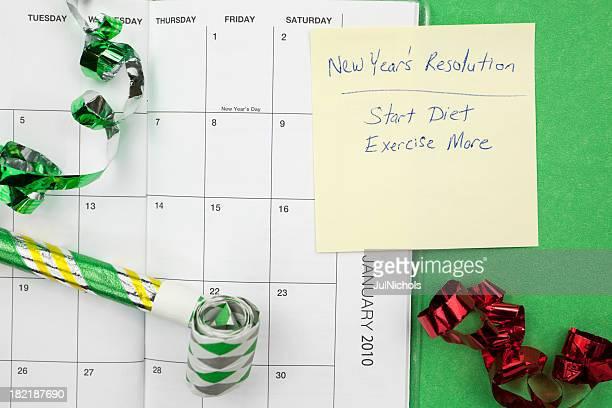 Dieta y ejercicio de año nuevo de resolución