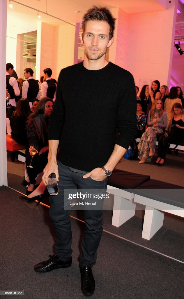 Diet Coke model Andrew Cooper attend a party celebrating 30 years of Diet Coke and announcing designer Marc Jacobs as Creative Director for Diet Coke in 2013 at the German Gymnasium Kings Cross on March 11, 2013 in London, England.