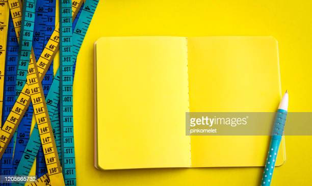 diet control concept background colorful measuring
