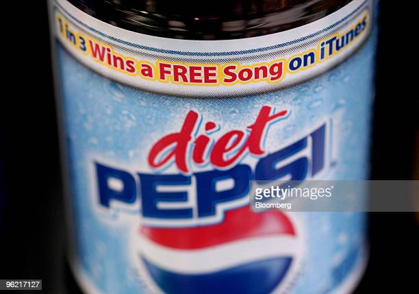 Diet Pepsi label advertises a promotion to give away 100 million music downloads from Apple's iTunes music store in New York on February 19 2004...