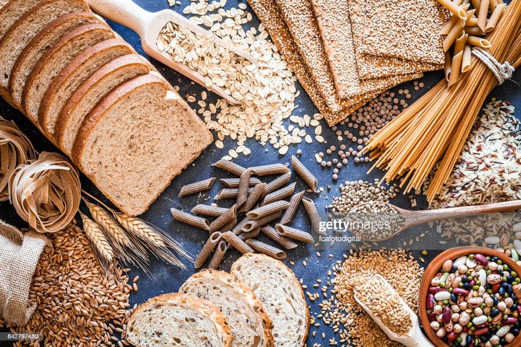 Dietary fiber food still life : Stock Photo